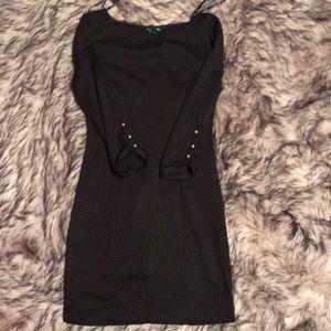 Forever 21 3/4 Sleeve Black Dress